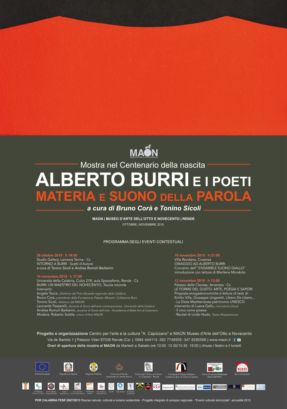 Manifesto MAON mostra Burri4