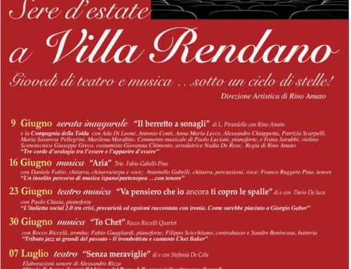 Sere d'estate a Villa Rendano