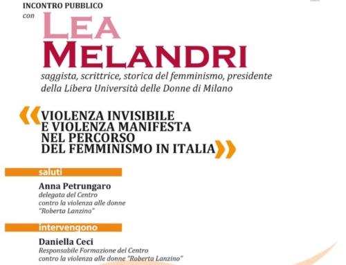 Incontro con Lea Melandri