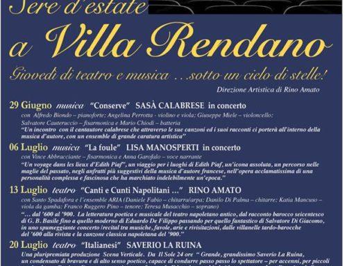 Sere d'estate a Villa Rendano. Seconda edizione